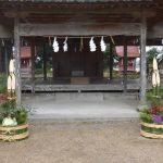 宮当番で門松を作りました。
